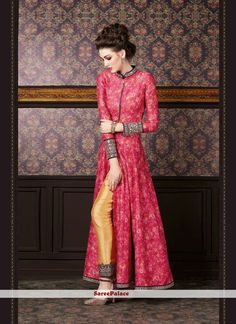 Perfect Red and Yellow Silk Designer Suit