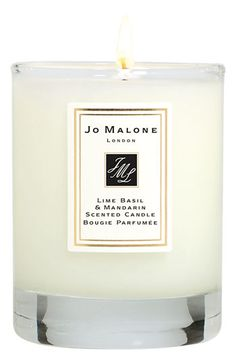 Jo Malone Lime Basil & Mandarin Scented Travel Candle $35. Received as a xmas present 2011, and I love the smell