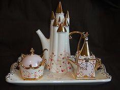 Disney CINDERELLA TEA SET Royal Dreams Coach RETIRED Teapot Tray Sugar Creamer in Collectibles, Disneyana, Contemporary (1968-Now)