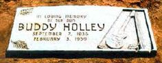 Buddy Holly ~ City of Lubbock Cemetery, Lubbock, Texas.