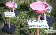 Red neck bird feeder