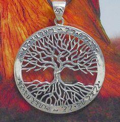 gr . Wicca Tree of life Lebensbaum Weltenbaum Yggdrasil 925Silber Kelten Druiden in Uhren & Schmuck, Folkloreschmuck, Keltischer Schmuck | eBay