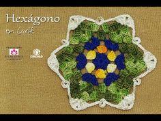Hexagono de Crochê Duna - Professora Simone