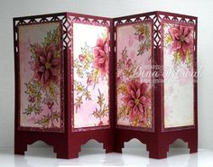 Poinsettia Screen Card by dini - Cards and Paper Crafts at Splitcoaststampers Easel Cards, 3d Cards, Pop Up Cards, Stampin Up Cards, Christmas Cards, Fancy Fold Cards, Folded Cards, Screen Cards, Asian Cards