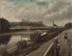 Blick auf Pressburg  hst 38x49 1885