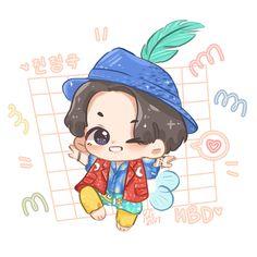 Cute Kawaii Drawings, Anime Girl Drawings, Bts Drawings, Jungkook Fanart, Jungkook Cute, Tiny Pics, Meaningful Drawings, Baby Drawing, Bts Rap Monster
