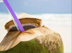 Refreshing tender coconut water