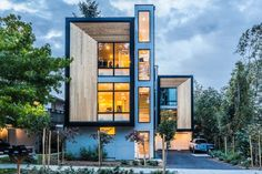 Genesee Townhomes in Seattle, Washington by Elemental Architecture via @HomeDSGN