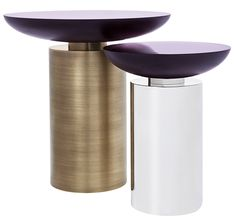 Cockatoo Table (9444). Polished and etched resin table top supported on a cylindrical metal base. powellandbonnell