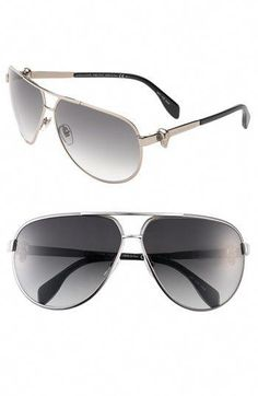 b4b2d616db8 Alexander McQueen Sunglasses (Men s Pre-owned Metal Skull Aviator Sun  Glasses)