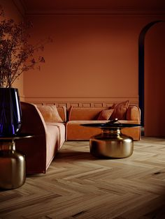 Ocher room on Behance