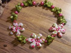 Gypsy Cowgirl Chic Pink Pearls Green Coral Teardrops Floral Spring Boho Necklace…