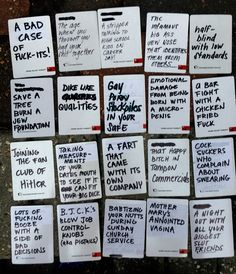The best and most hilarious ideas for blank cards in cards of humanity deck or DIY your own deck cards of humanity