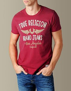 Premium t-shirt in High Red - True Religion #repintowinyorkdale