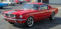 1965 Mustang fastback.  Love this entire setup.