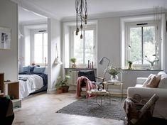 """Lehet 52 négyzetméteren is kis """"csodát"""" alkotni. Trendi, ízléses, hangulatos otthon Göteborg szívében.                               Forrás: Stadshem"""
