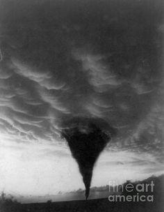 Oklahoma: Tornado, C1898 by Granger.