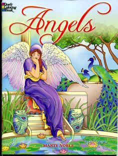 Angels Coloring Book By Marty Noble Dover Paperback New