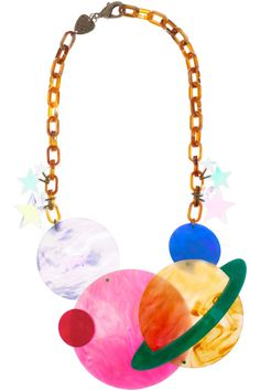 Planetary System Statement Necklace