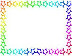 Rainbow Star Border Page cakepins.com