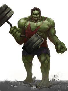 #Hulk #Fan #Art. (Hulk Comission) By: Sergio Román. ÅWESOMENESS!!!™ ÅÅÅ+
