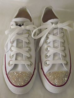 Rhinestone Bling Custom Chuck Taylor All Star Sneakers Low Top