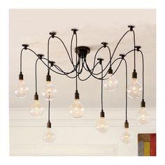 Edison Spider Lamp in Black   Modern Chandelier   Cult UK