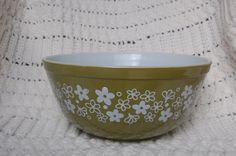 Vintage Pyrex Mixing Bowl Spring Blossom or by blinkyoullmissit