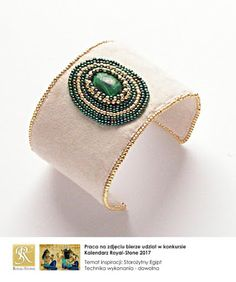 koralikowe fantazje Noiree: Bransoletka Malachite - malachite with Toho beads #bracelet #embroidery #malachite #beads