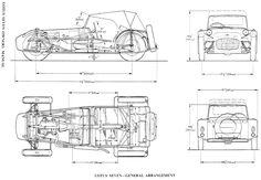 Lotus Seven blueprint