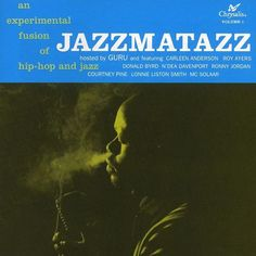 Guru Jazzmatazz Volume 1 on LP Guru's Jazzmatazz, Vol. 1, originally issued in 1993, is one of the first albums to combine a live jazz band with hip hop production and rapping. The Gang Starr MC had a