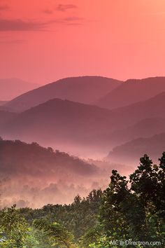Smoky Mountains - part of the Appalachians rising along the TN/NC border
