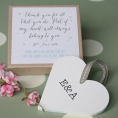 personalised parents wedding heart by modo creative | notonthehighstreet.com