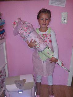 Mädchen-Schultüte mit passendem Kleid - von Kitty