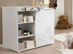 Commode+à+langer+BABY+TOWN+-+1+porte+-+Coloris+blanc Decor, Furniture, Kids Room, Room, Changing Table, Cabinet, Home Decor, Locker Storage, Storage