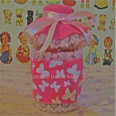 pink flower jar  with lace, www.souvenir-fashionshop.com