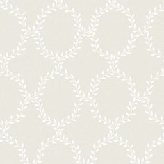 Wallpaper Wilma grey is a classic and extremely popular pattern, which makes the wall appear covered in laurel wreaths. Here with a white leaf pattern on pale grey.