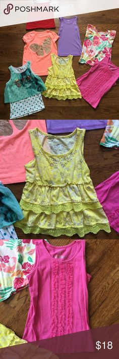 Justice Lot girls size 7/8 like new 8 tops! School Back to school lot size 7/8. 8 tops total. justice x 3, crazy 8, children's place, 365, Gymboree, and 1 faded glory. More listed like this! Justice Shirts & Tops Blouses