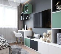 Unisex Kids Room Design 16 Ideas For 2019 Kids Room Design, Home Office Design, Unisex Kids Room, Kids Bedroom, Bedroom Decor, Kids Rooms, Master Bedroom, Ikea Kids Room, Kids Study Desk