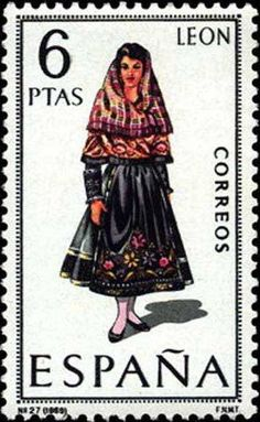 Traditional costumes of Spain Folk, Postage Stamp Art, Guernica, Flamenco Dancers, Poses References, Love Stamps, Balearic Islands, Tampons, My Stamp