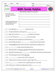 "A Magic School Bus ** ""Gets Charged"" Worksheet, Answer She 