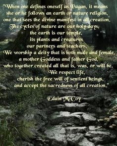 I would condsider it more worshiping old gods and goddesses then worshipping the earth. That is more neo pagan, wiccan.
