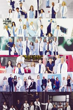 Grey's Anatomy Cast over the seasons <3