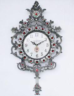 Pendulum Tin Wall Clock, Interior Design Home Decoration Clock Tin Walls, Clock, House Design, Interior Design, Decoration, Gifts, Home Decor, Watch, Nest Design