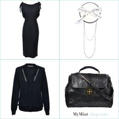 TUESDAY´S NEW ARRIVALS! Kleid: #dolcegabbana Kette: #girlsdreams Cardigan. #prada Tasche: #chloé
