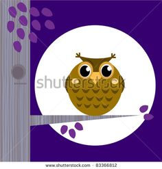 owl and moon purple - Google Search