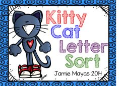 Kitty Cat Literacy Center Freebie!!!