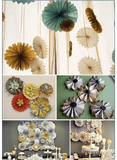pretty DIY paper flowers