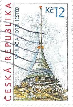 Czech Republic - Stamp 2008, Vysilac Hotel Jested 12 Kc