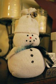 Preschool Christmas Crafts Jesus | Sock Snowman preschool craft